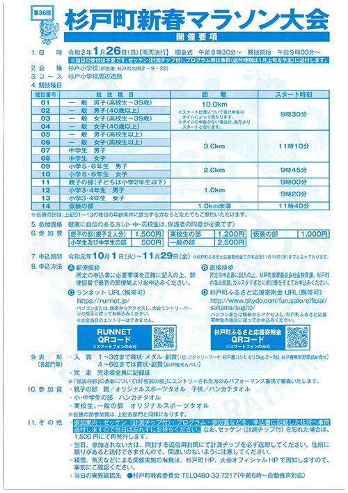 第36回(2020年)杉戸町新春マラソン大会開催要項-2